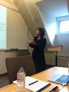 Professor Colleen M. Grognan lecturing at the School of Public Policy and Governance